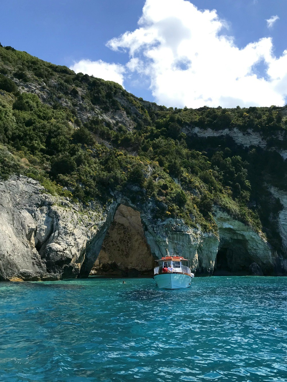 Boat trip in Paxos Greece Photo Heatheronhertravels.com