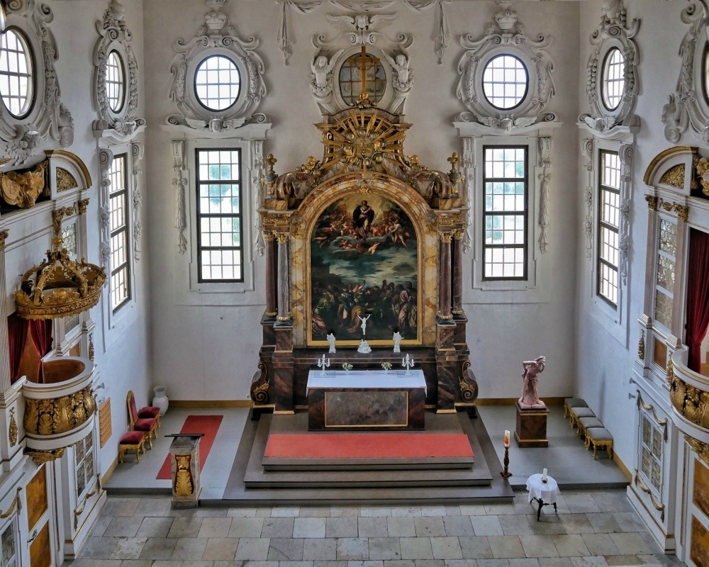 Chapel at Schloss Moritzburg near Dresden Germany Photo Heatheronhertravels.com