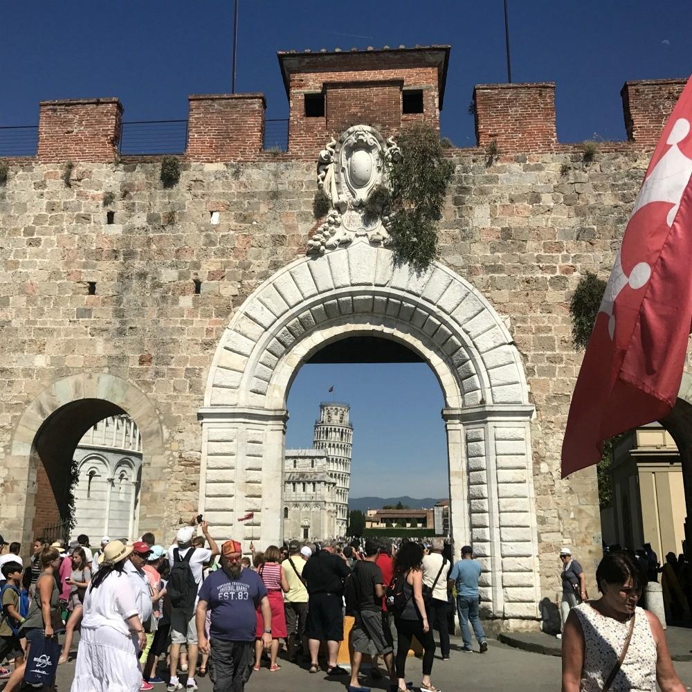 City wall in Pisa Photo Heatheronhertravels
