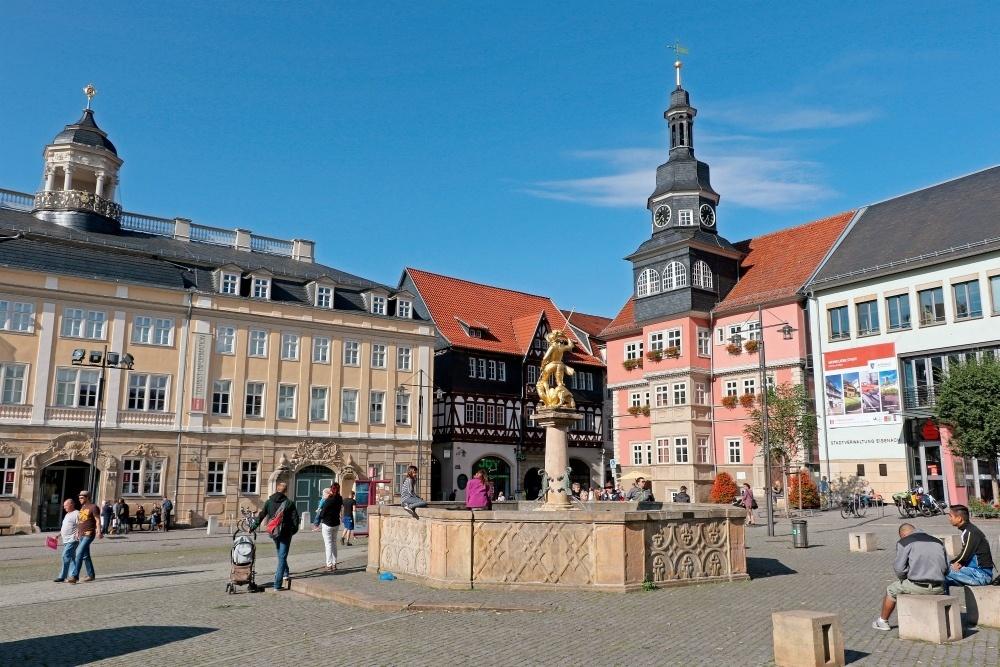 Eisenach Market Square in Thuringia, Germany Photo: Christiane Würtenberger
