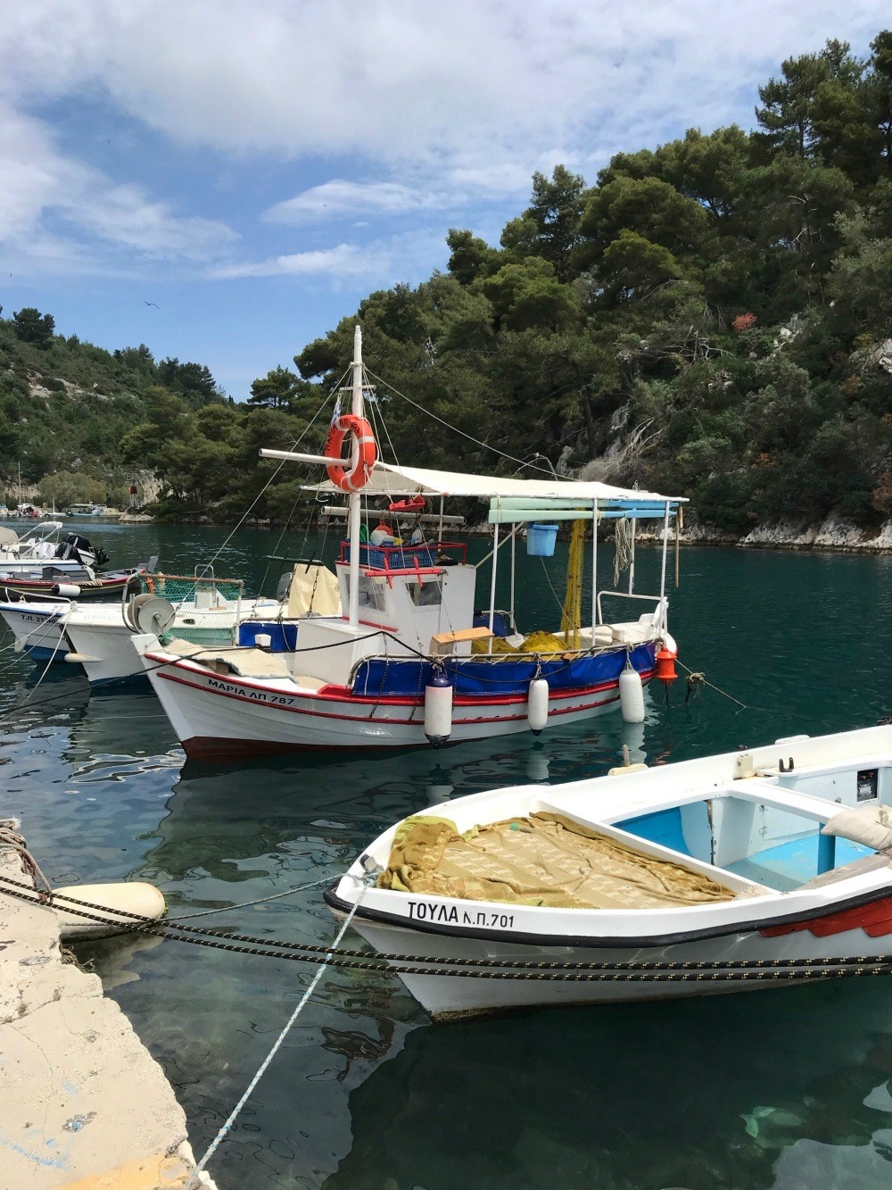 Fishing boats in Gaios Paxos Photo Heatheronhertravels.com