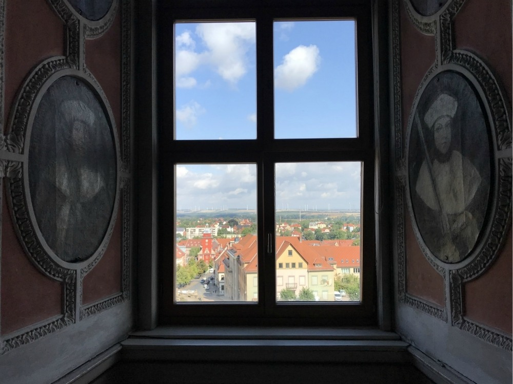 Friedenstein Palace window in Gotha, Thuringia, Germany Photo Heatheronhertravels.com