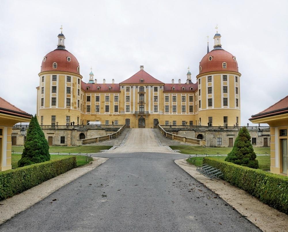 Front view of Schloss Moritzburg near Dresden Germany Photo Heatheronhertravels.com