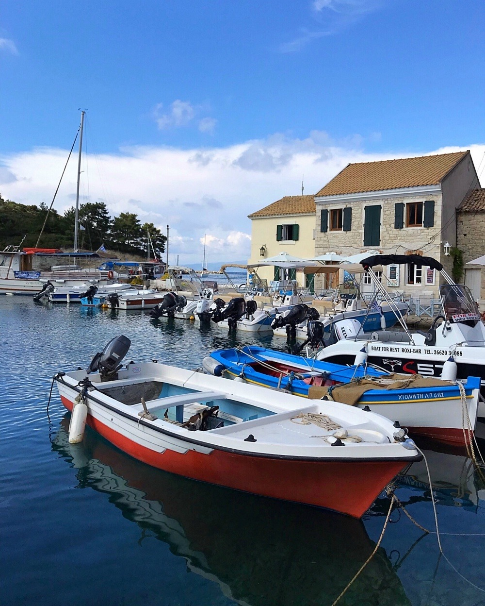 Harbour at Loggos, Paxos Greece Photo Heatheronhertravels.com