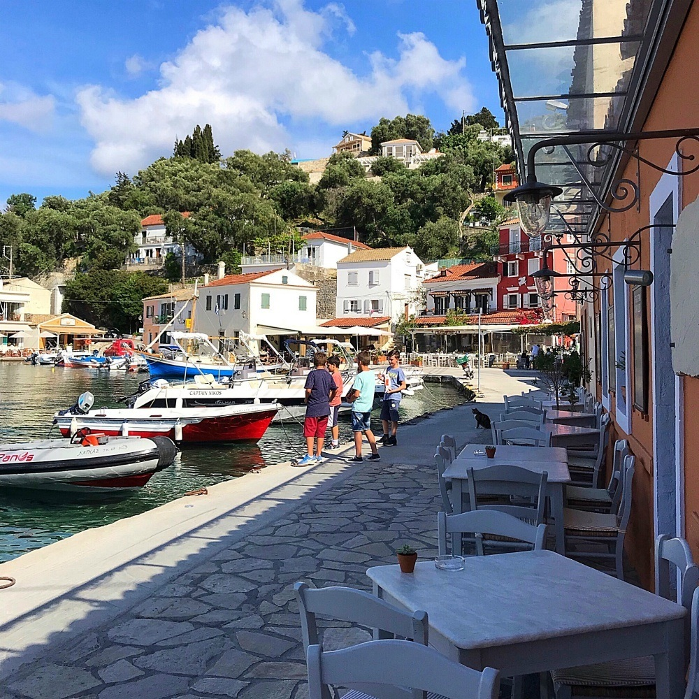 Harbour at Loggos in Paxos Photo Heatheronhertravels.com
