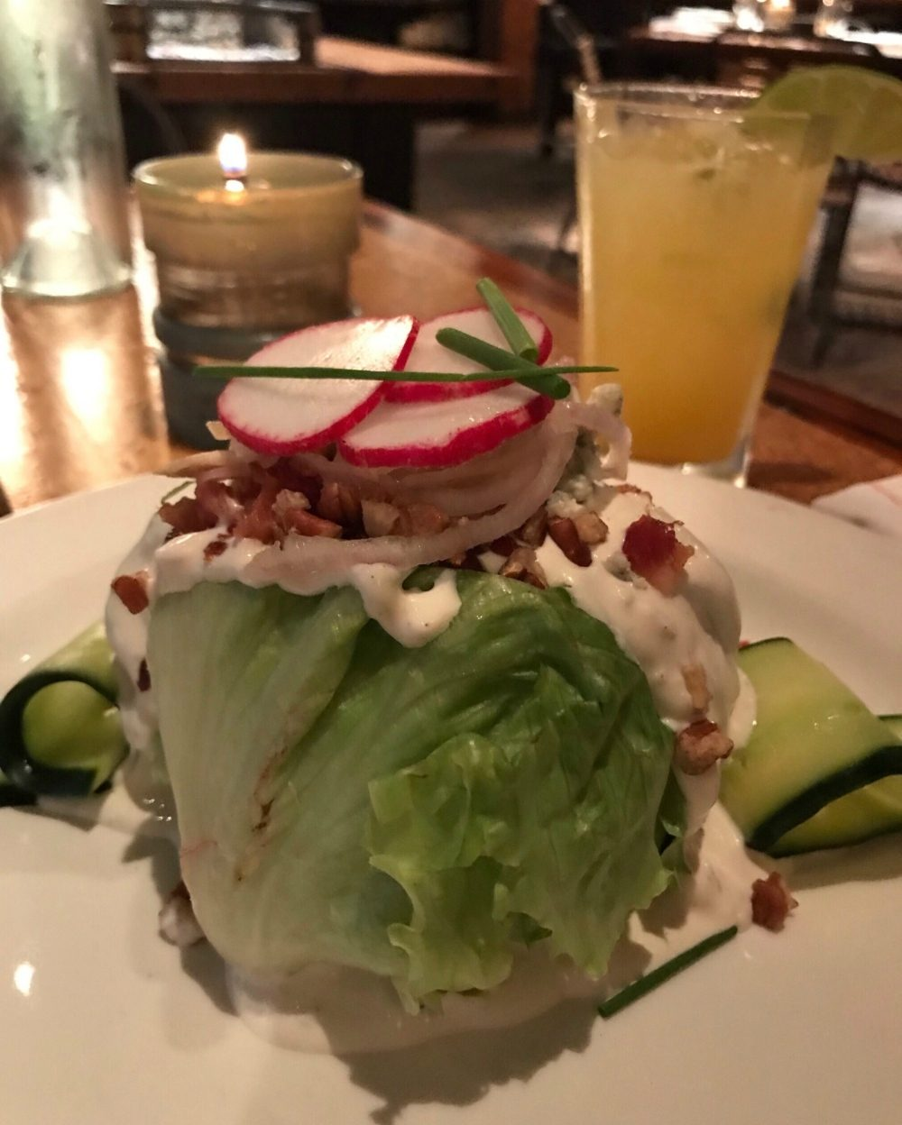 Steakhouse wedge salad at Central in Alabama Photo Heatheronhertravels