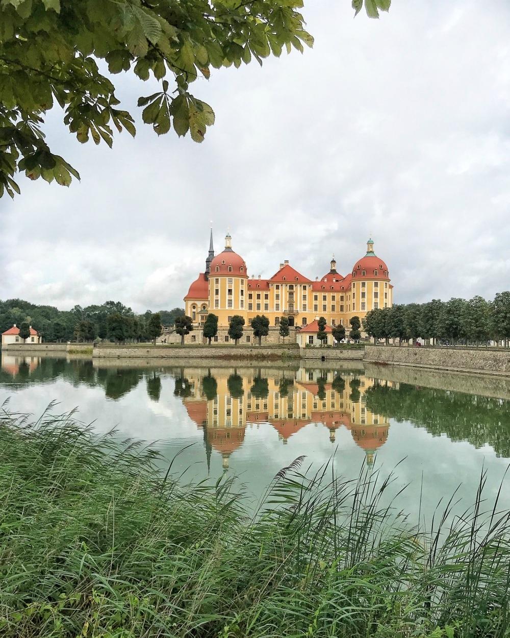 Lake at Schloss Moritzburg near Dresden Germany Photo Heatheronhertravels.com