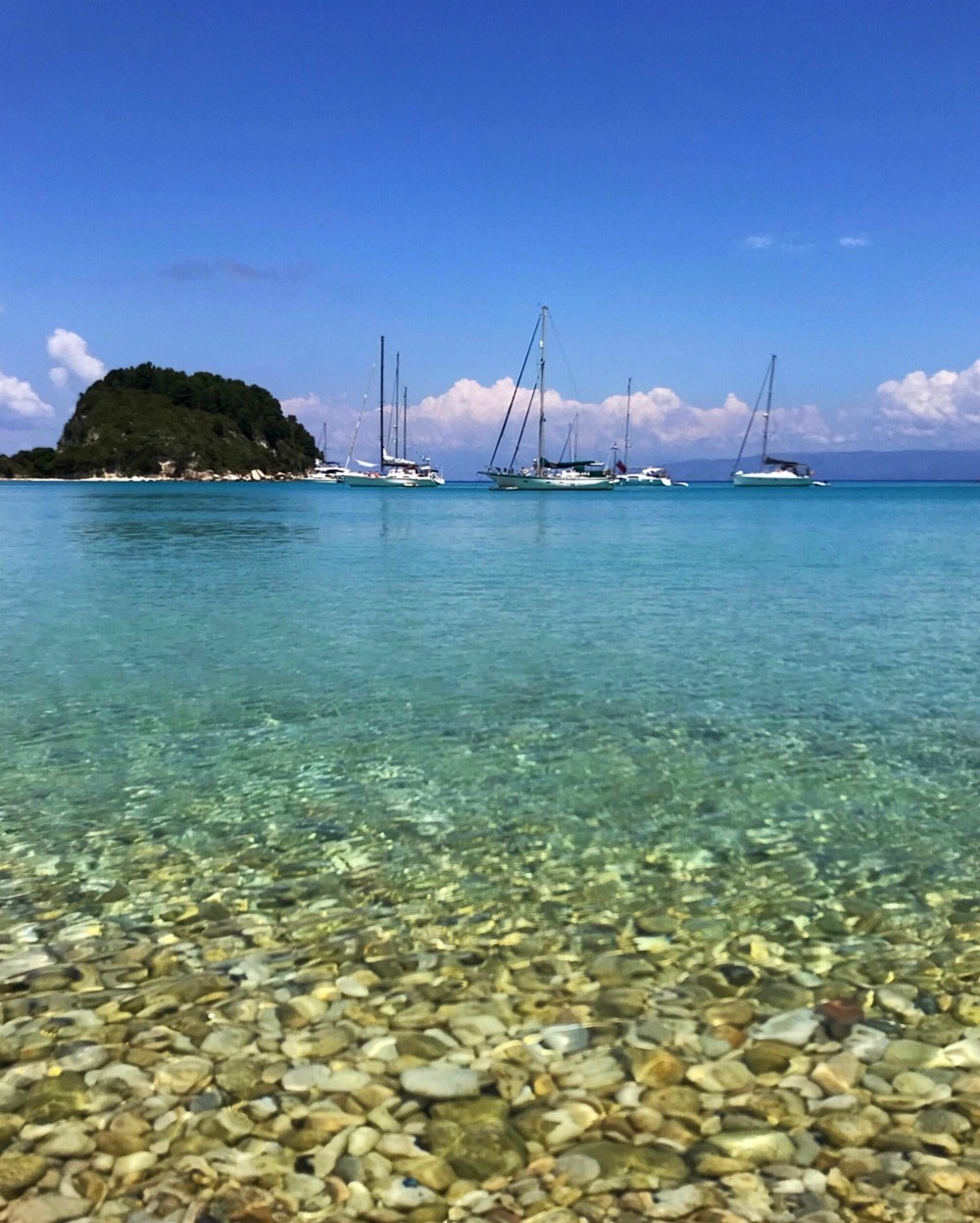 Lakka Bay in Paxos Greece Photo Heatheronhertravels.com