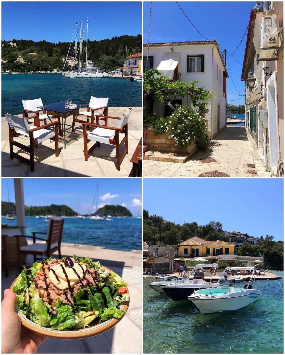 Fanis Bar in Lakka harbour, Paxos Greece Photo Heatheronhertravels.com