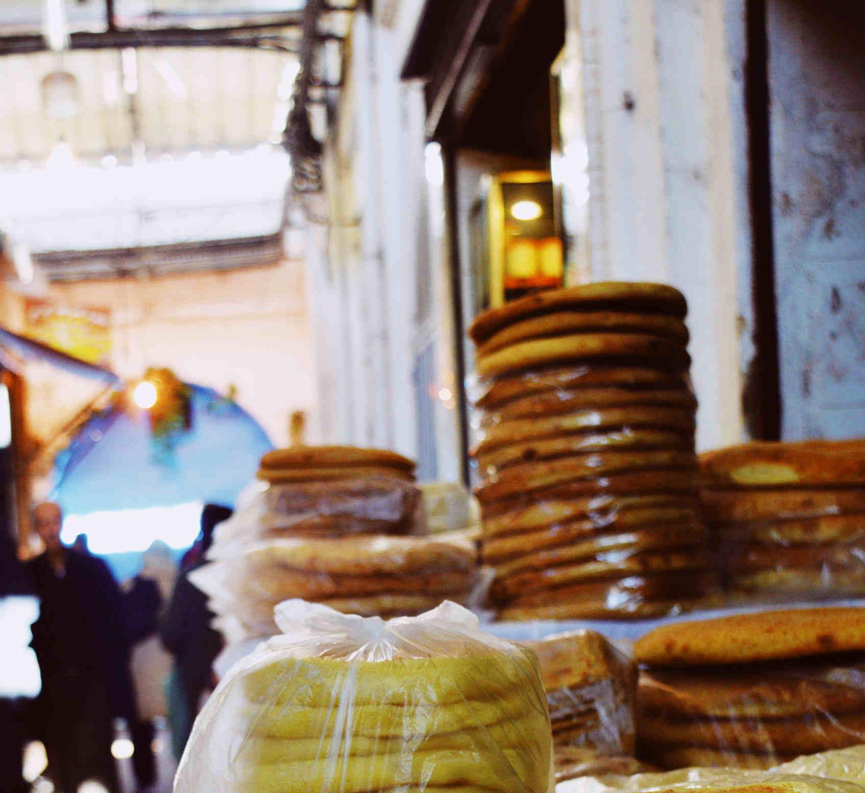 Moroccan bread in the medina Photo: Moroccanzest