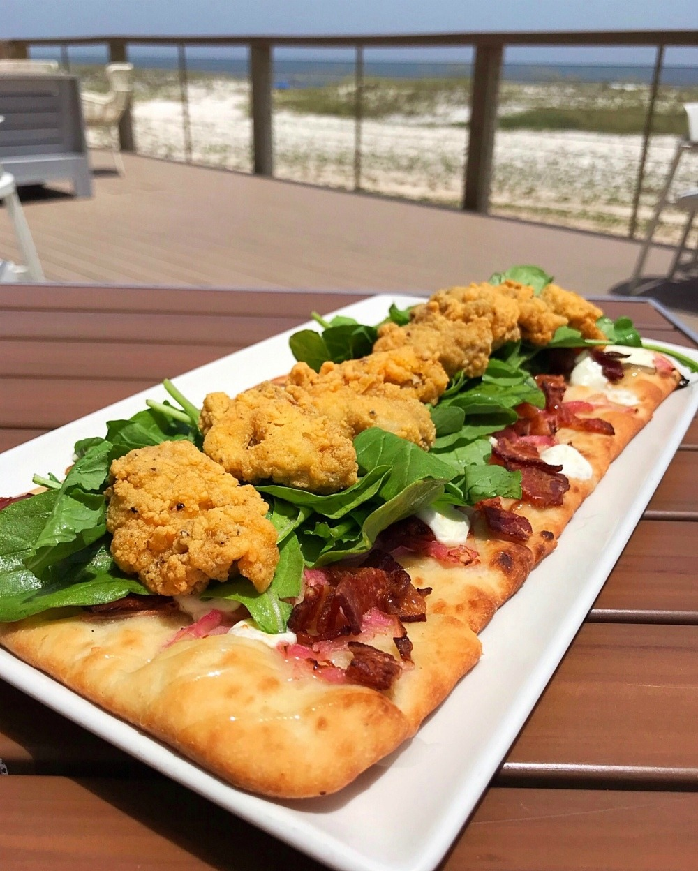 Oyster Flatbread at Foodcraft in Gulf Shores Alabama Photo Heatheronhertravels