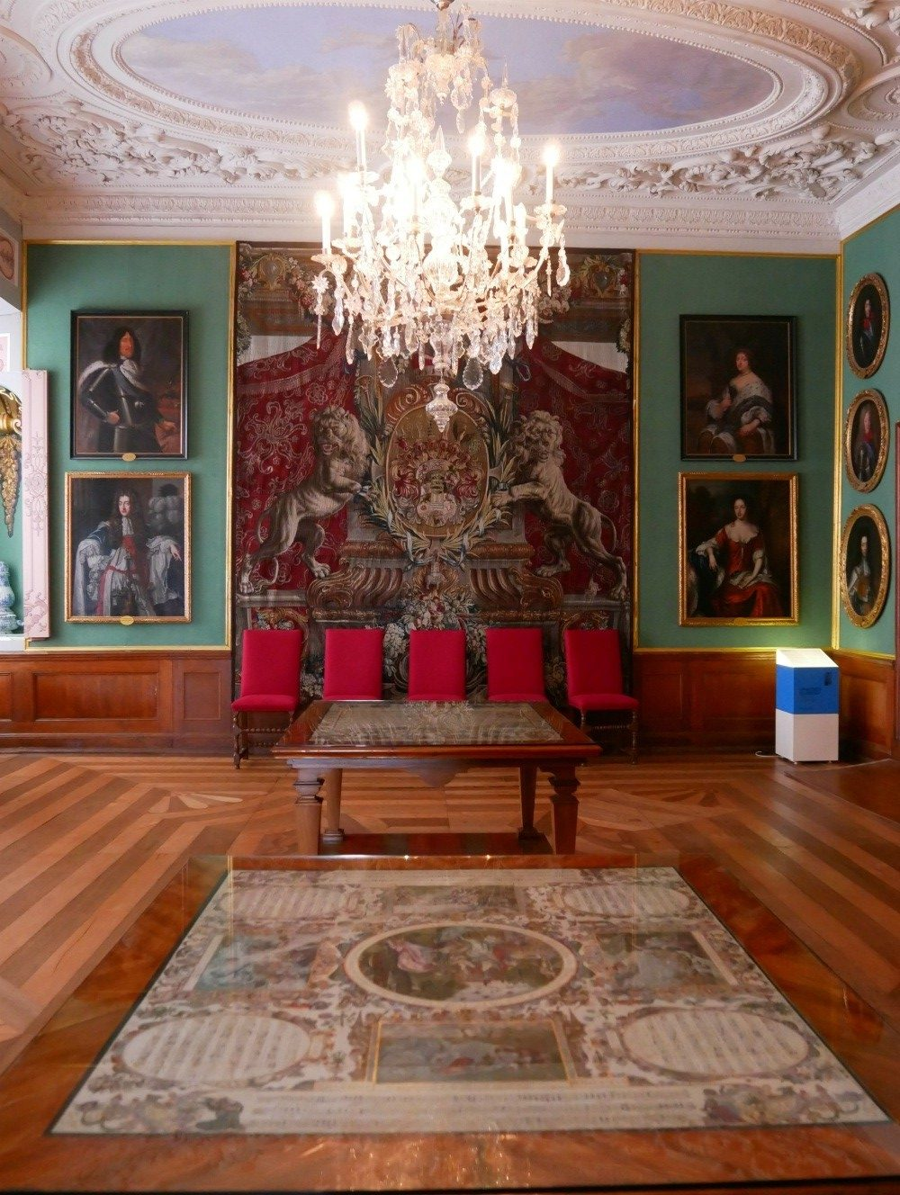 Reception room at Friedenstein Palace in Gotha, Thuringia, Germany Photo Heatheronhertravels.com