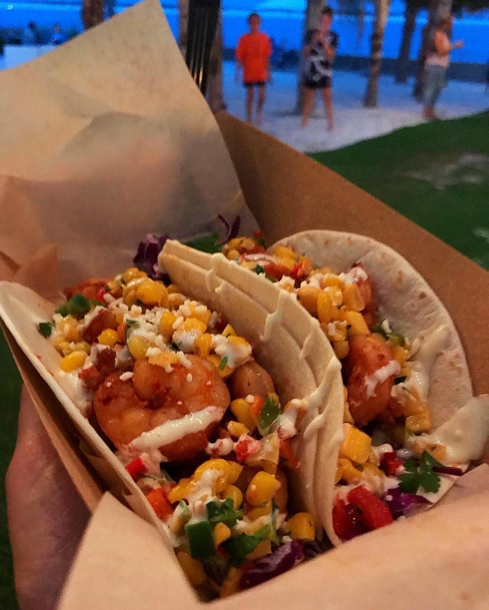 Shrimp tacos at The Gulf in Orange Beach Alabama Photo Heatheronhertravels