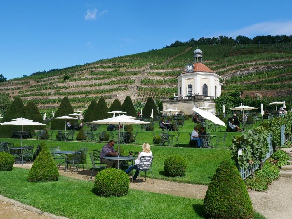 Terraces of Schloss Wackerbarth winery near Dresden, Saxony, Germany Photo Heatheronhertravels.com