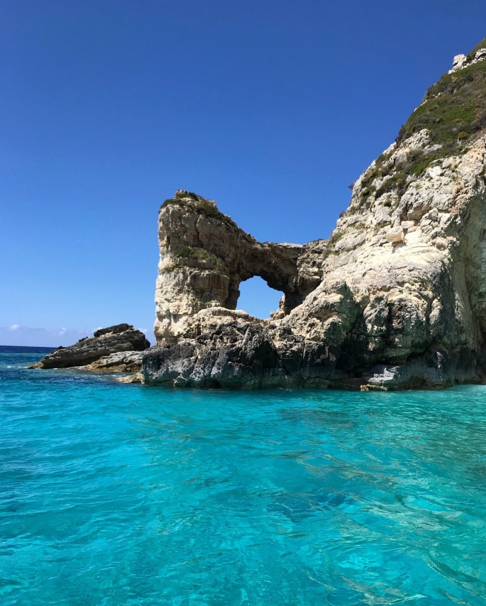 Tripitos Arch in Paxos Greece Photo Heatheronhertravels.com