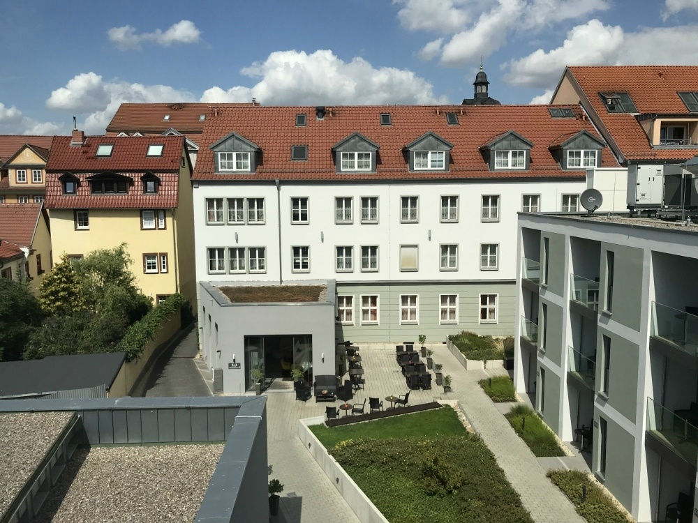 View of Hotel Am Kaisersaal in Erfurt, Thuringia, Germany