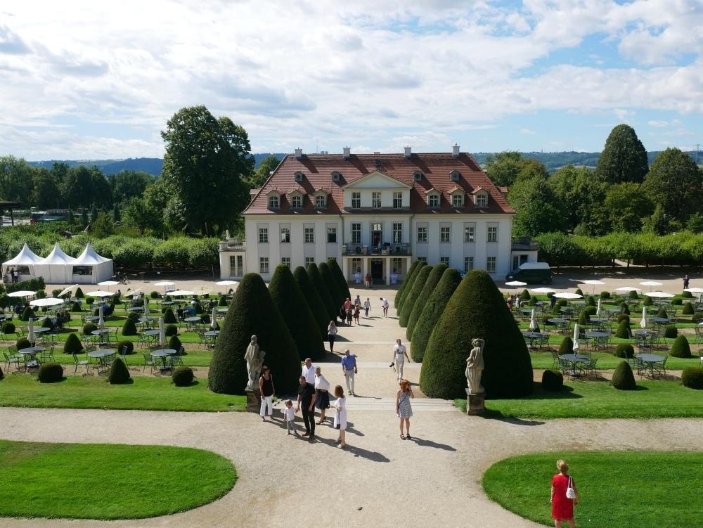 View of manor at Schloss Wackerbarth winery near Dresden, Saxony, Germany Photo Heatheronhertravels.com