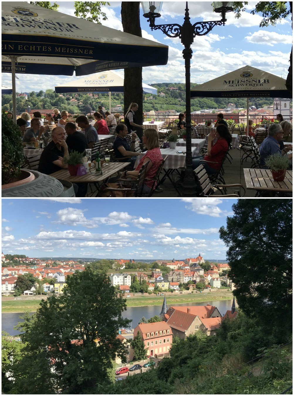 Views from cafe terrace in Meissen in Saxony, Germany Photo Heatheronhertravels.com