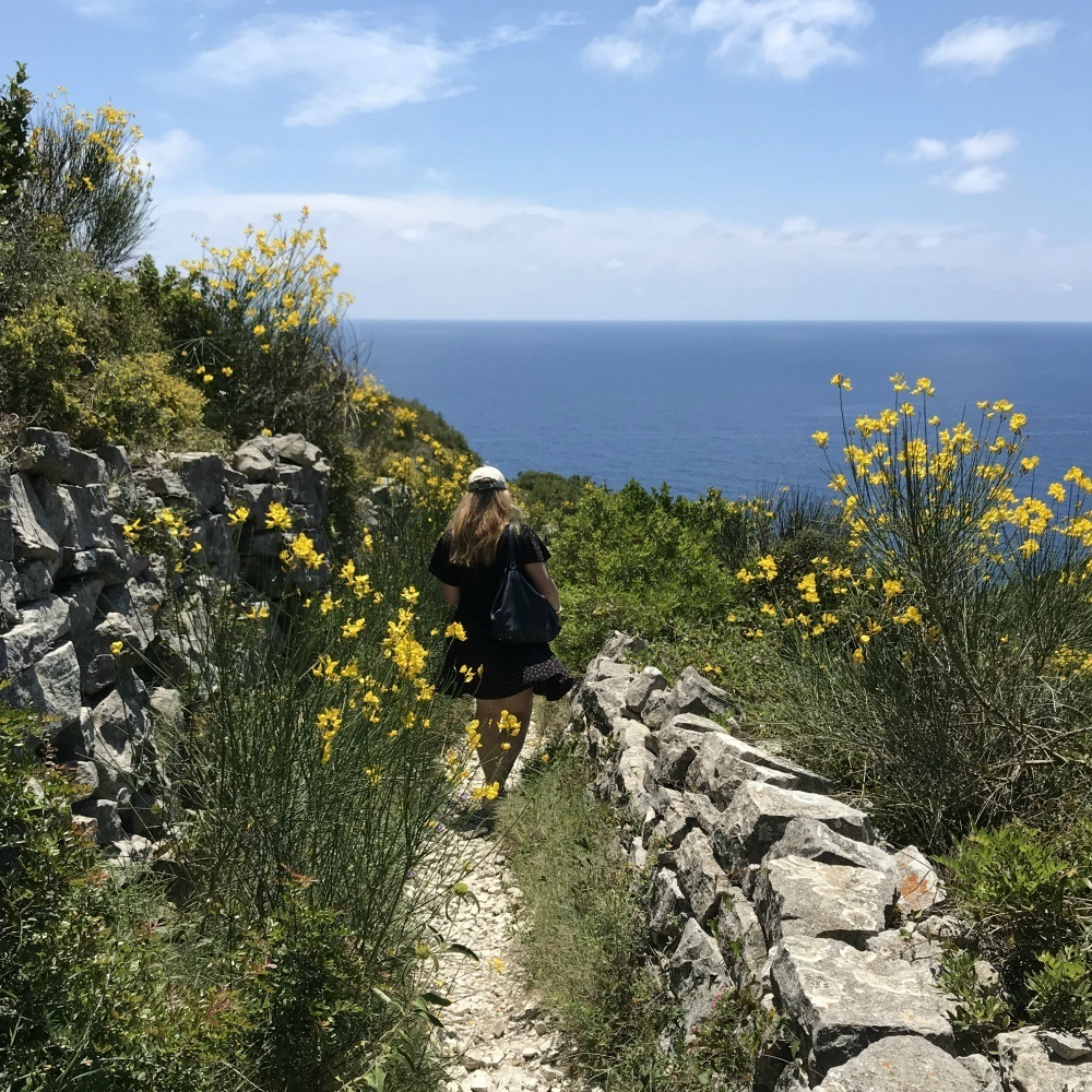 Walking to the Tripitos Arch in Paxos Photo Heatheronhertravels.com