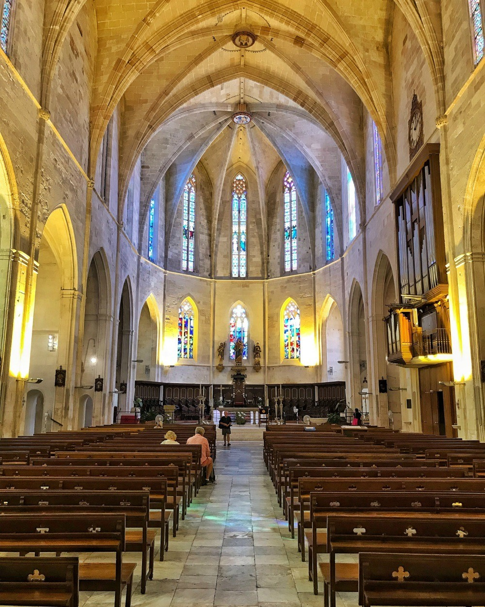 Cathedral interior in Ciutadella Menorca Spain Photo Heatheronhertravels.com