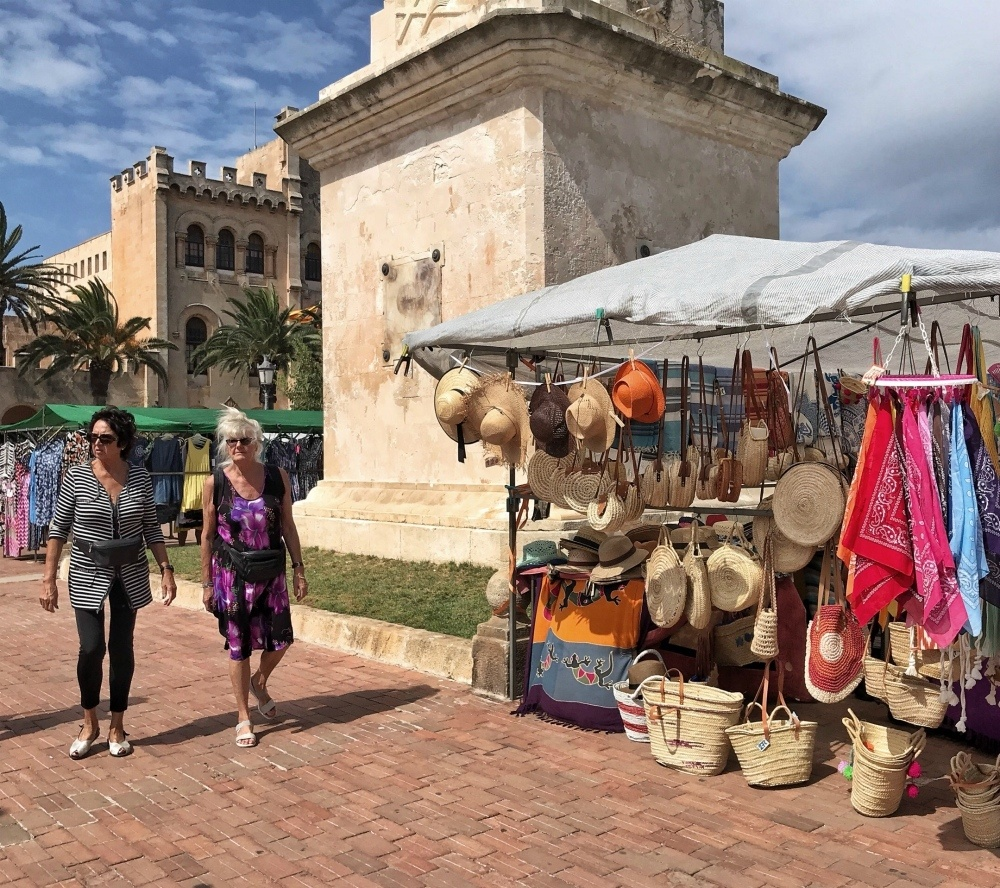 Market in Placa Born in Ciutadella Menorca Spain Photo Heatheronhertravels.com