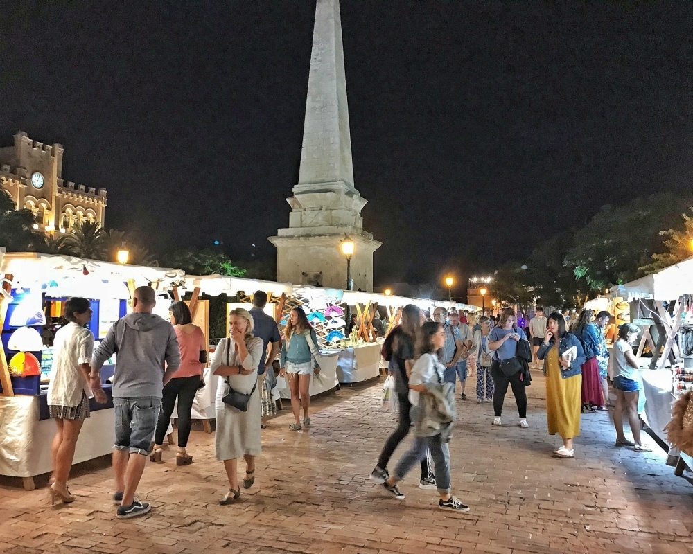 Night Market in Ciutadella Menorca Spain Photo Heatheronhertravels.com