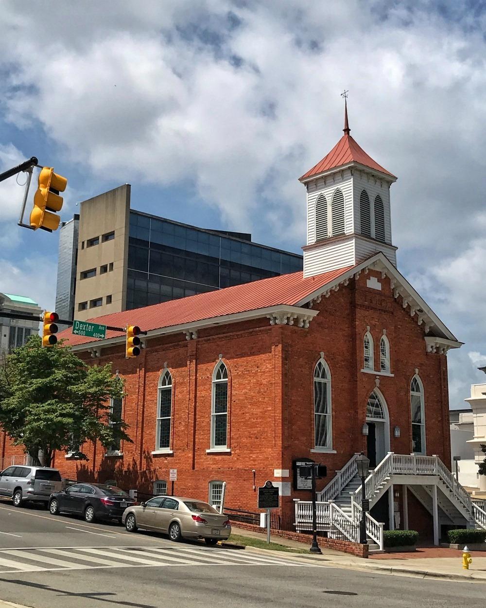 Dexter Avenue Baptist Church in Montgomery Alabama Photo Heatheronhertravels.com