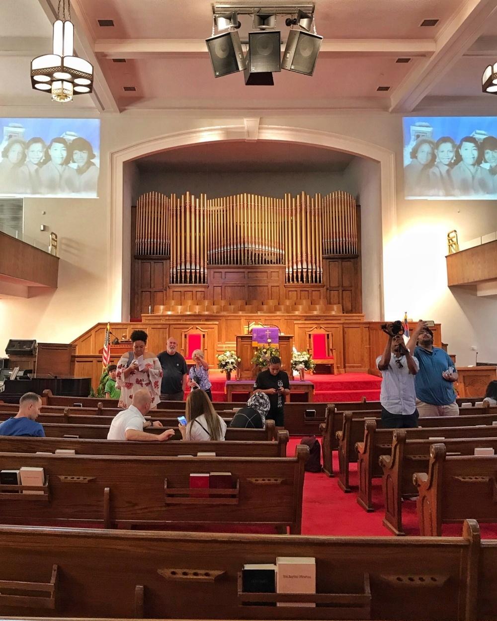 Interior of 16th St Baptist Church, Birmingham, Alabama Photo Heatheronhertravels.com