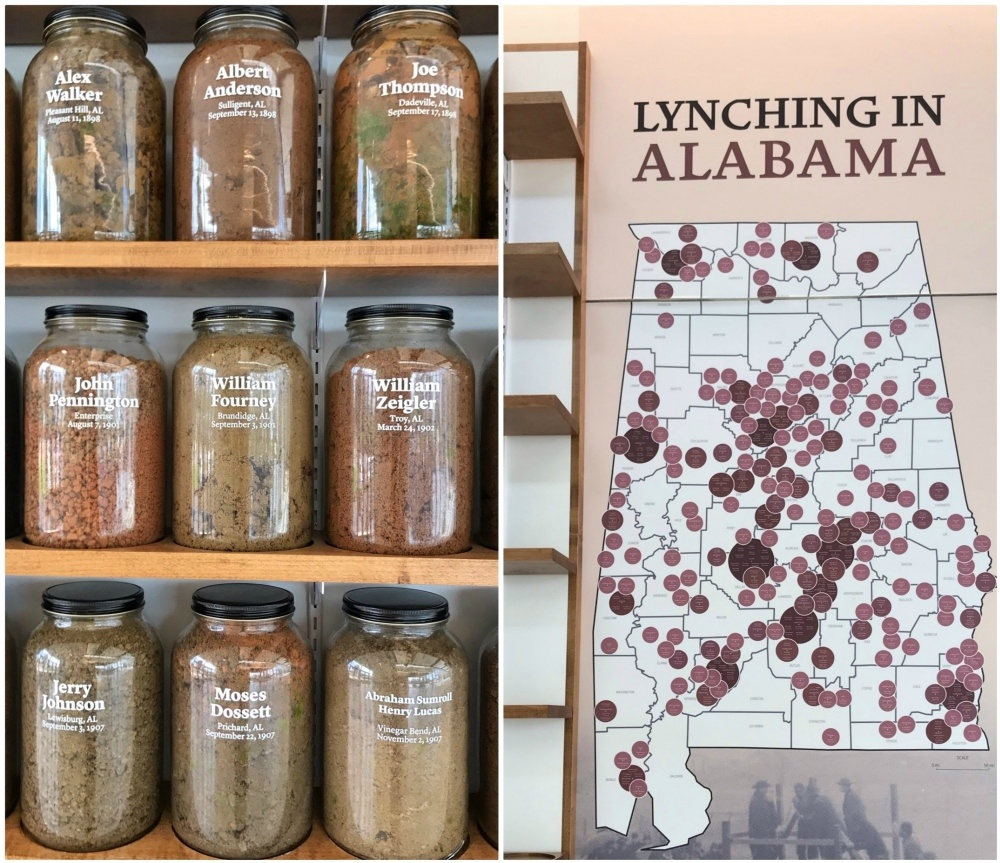 Lynching memorial in Montgomery Alabama Photo Heatheronhertravels.com