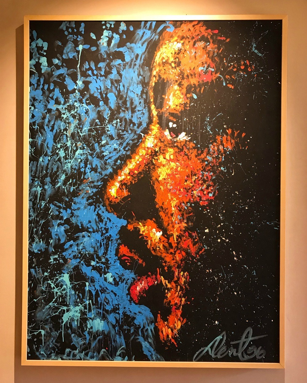 Martin Luther King portrait at Birmingham Civil Rights Institute