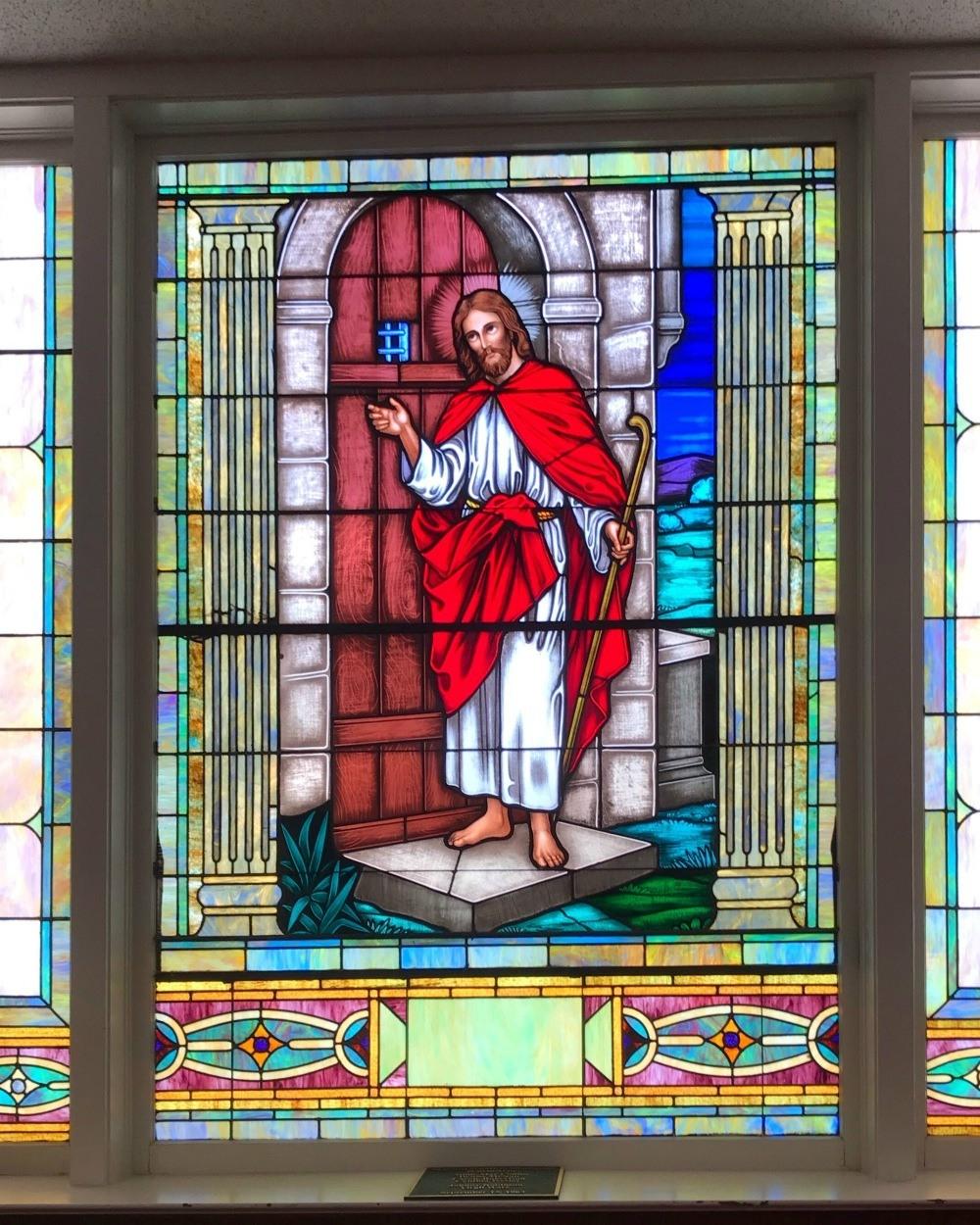 Stained glass in 16th St Baptist Church, Birmingham, Alabama Photo Heatheronhertravels.com