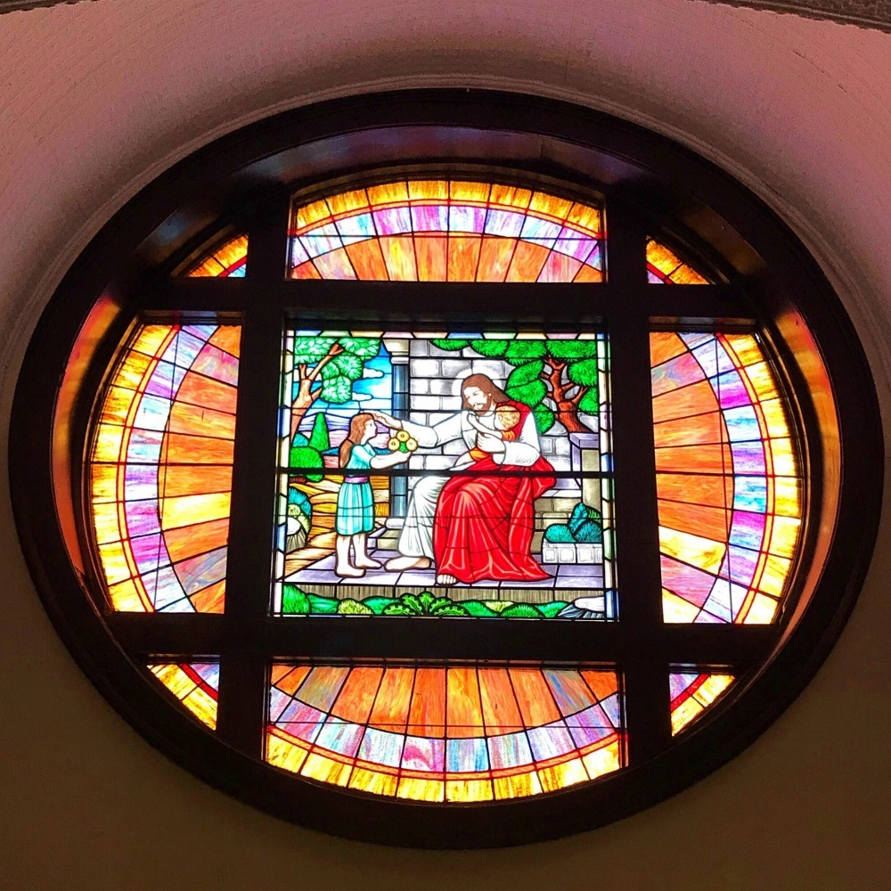 Stained glass window at Selma Brown Chapel AME Church Photo Heatheronhertravels.com