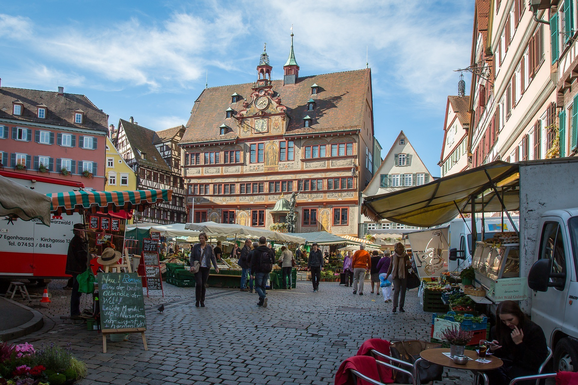 Rathaus in Tübingen Germany Photo: Maxmann on Pixabay