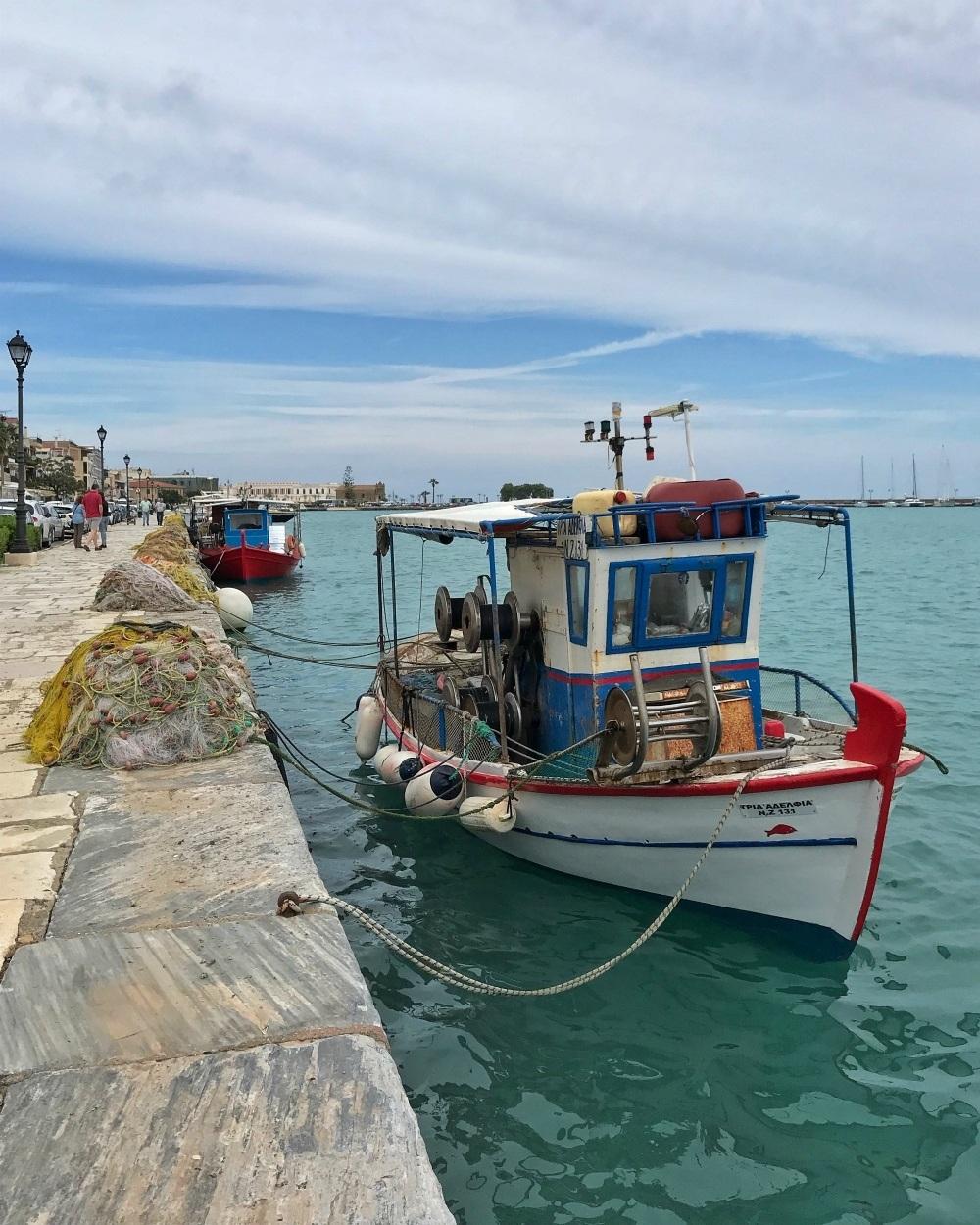 Fishing boats in Zante town