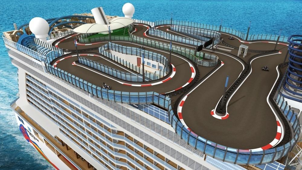 Norwegian Encore Racing Track - Photo Norwegian Cruise