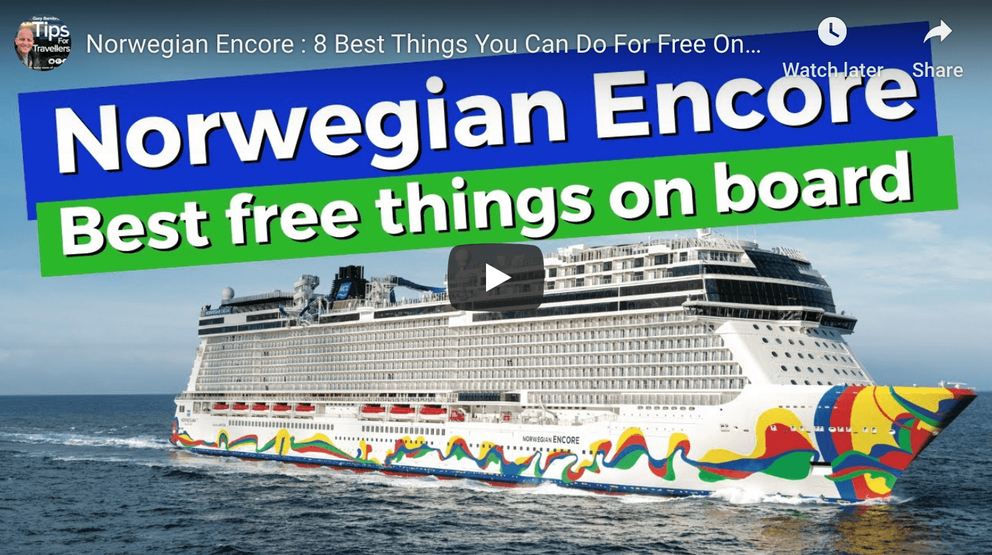 Norwegian Encore - best free things to do on board Tips for Travellers