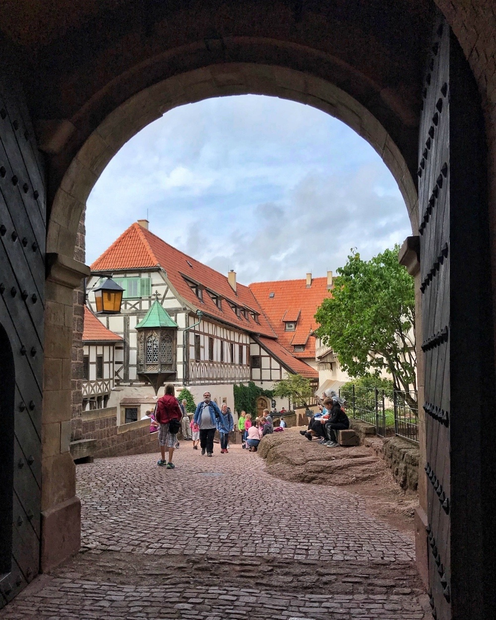 Arch of Wartburg Castle in Eisenach Thuringia Germany Photo Heatheronhertravels.com