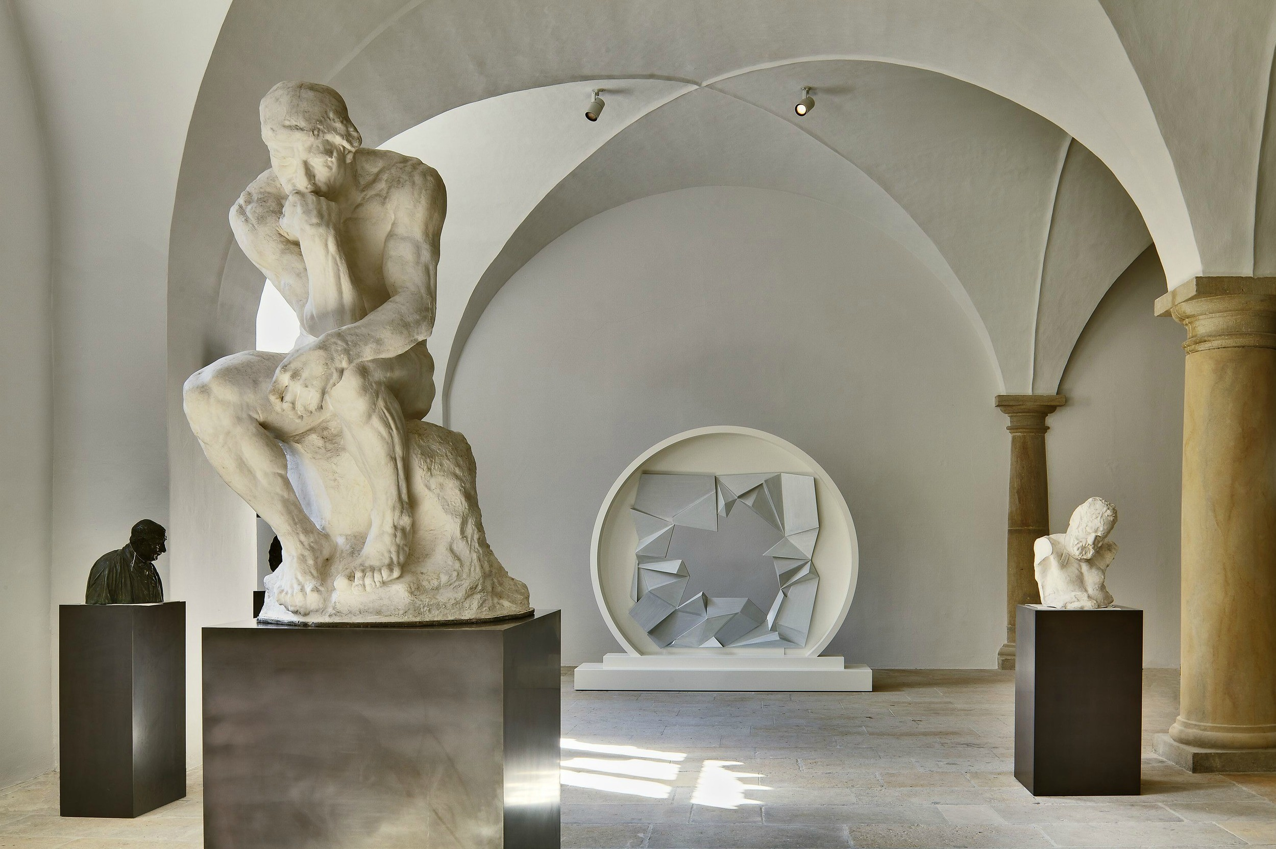 Sculpture Hall at Albertinum Dresden with The Thinker by Rodin Photo David Brandt