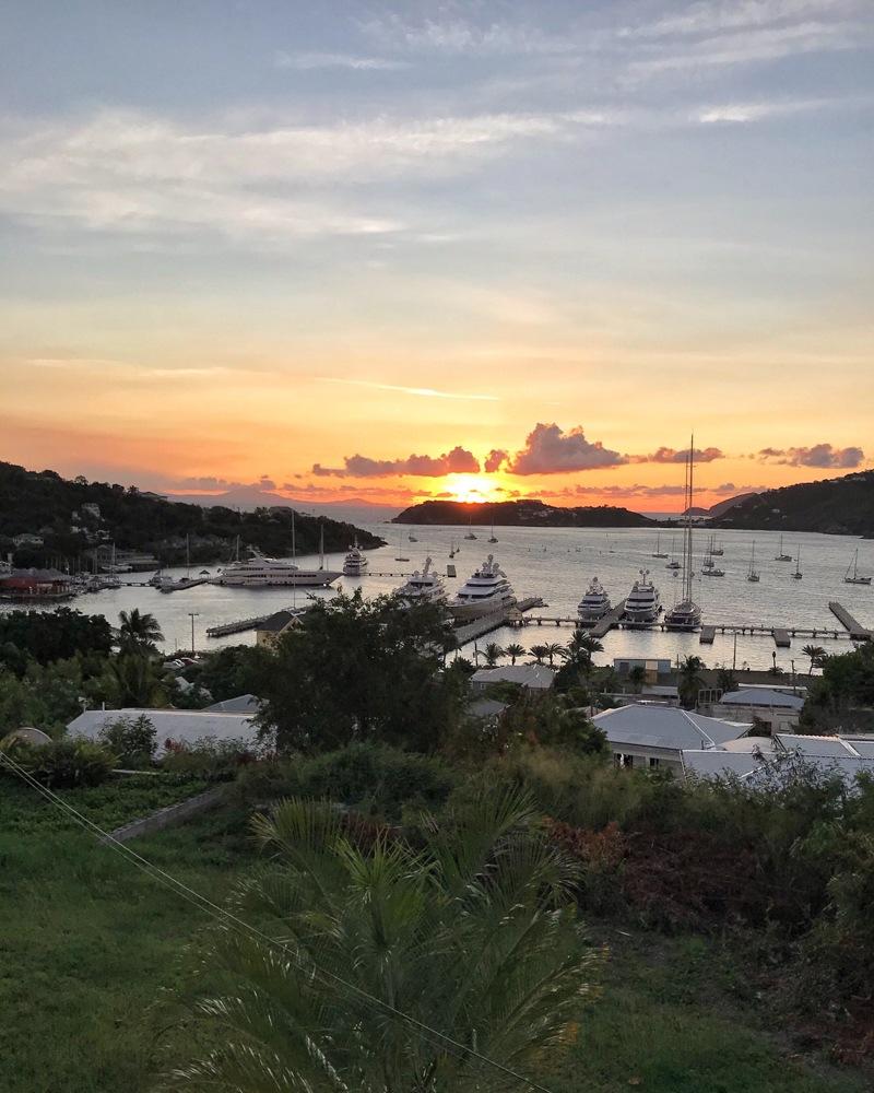 Falmouth Harbour Sunset in Antigua Photo Heatheronhertravels.com