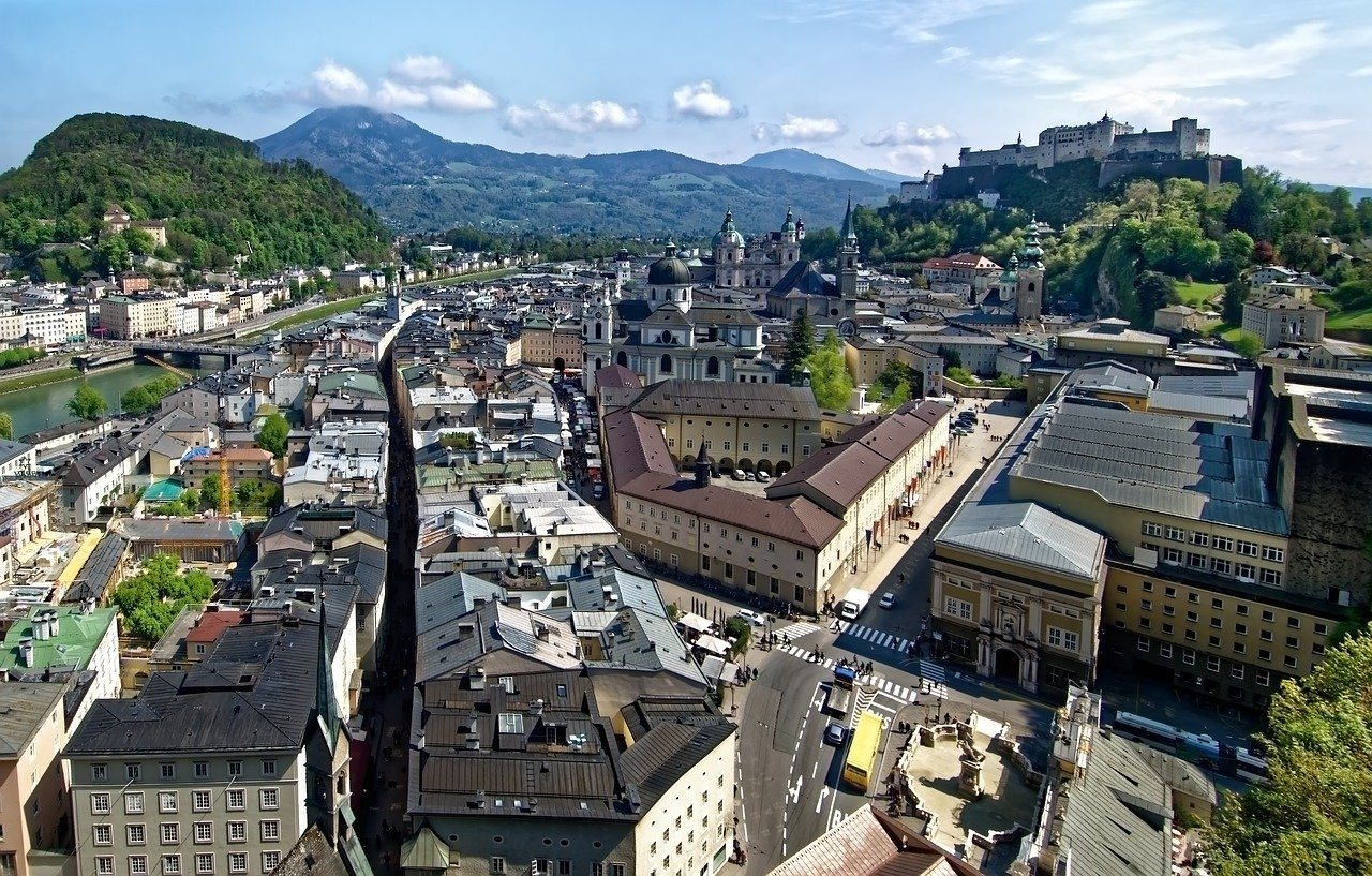 Salzburg in Austria Photo by Makalu on Pixabay