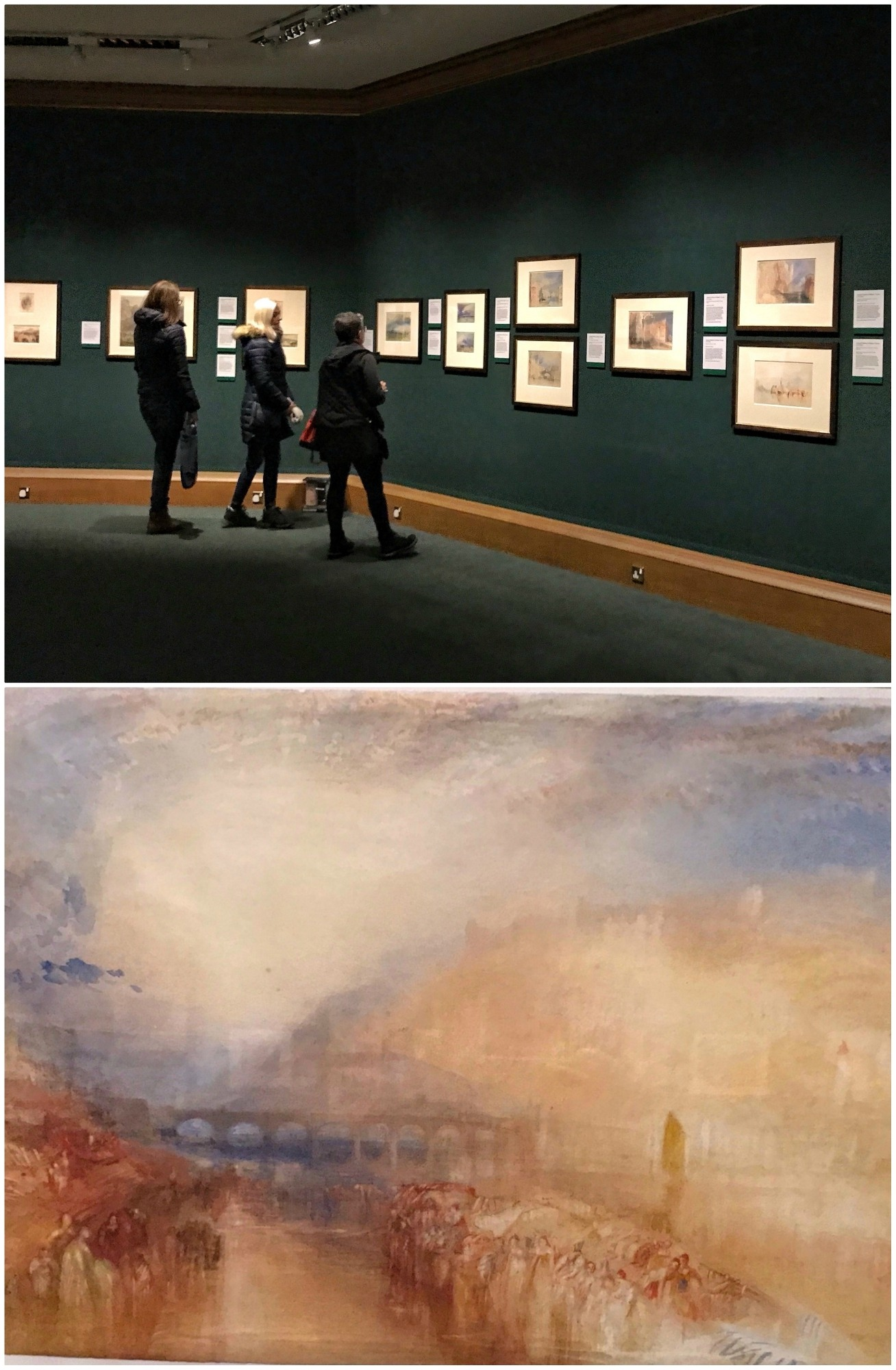 Turner in January at the Scottish National Gallery Photo Heatheronhertravels.com