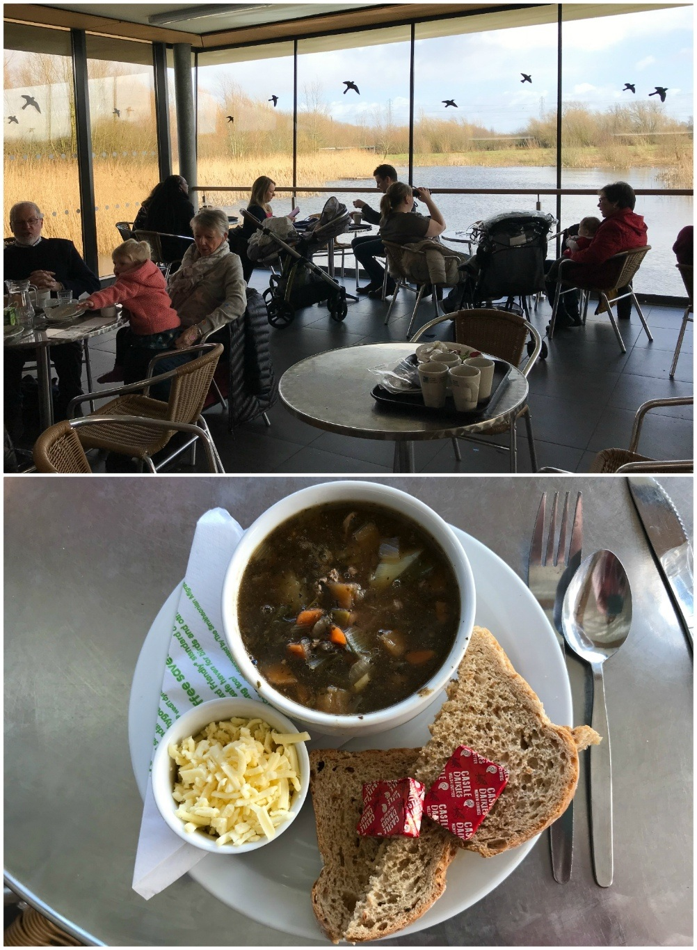Cafe at RSPB Newport Wetlands Centre Photo Heatheronhertravels.com