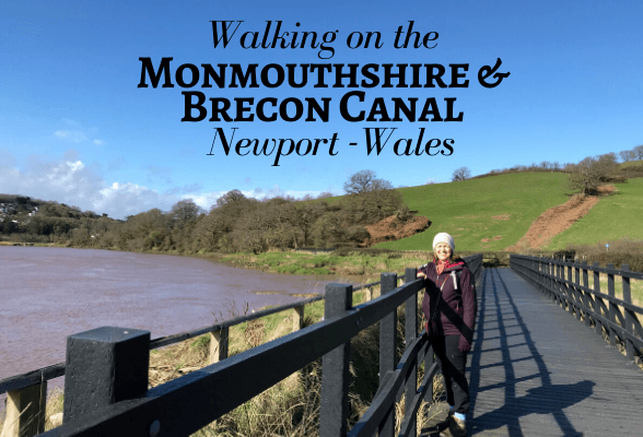 Walking on the Monmouthshire and Brecon Canal Newport South Wales