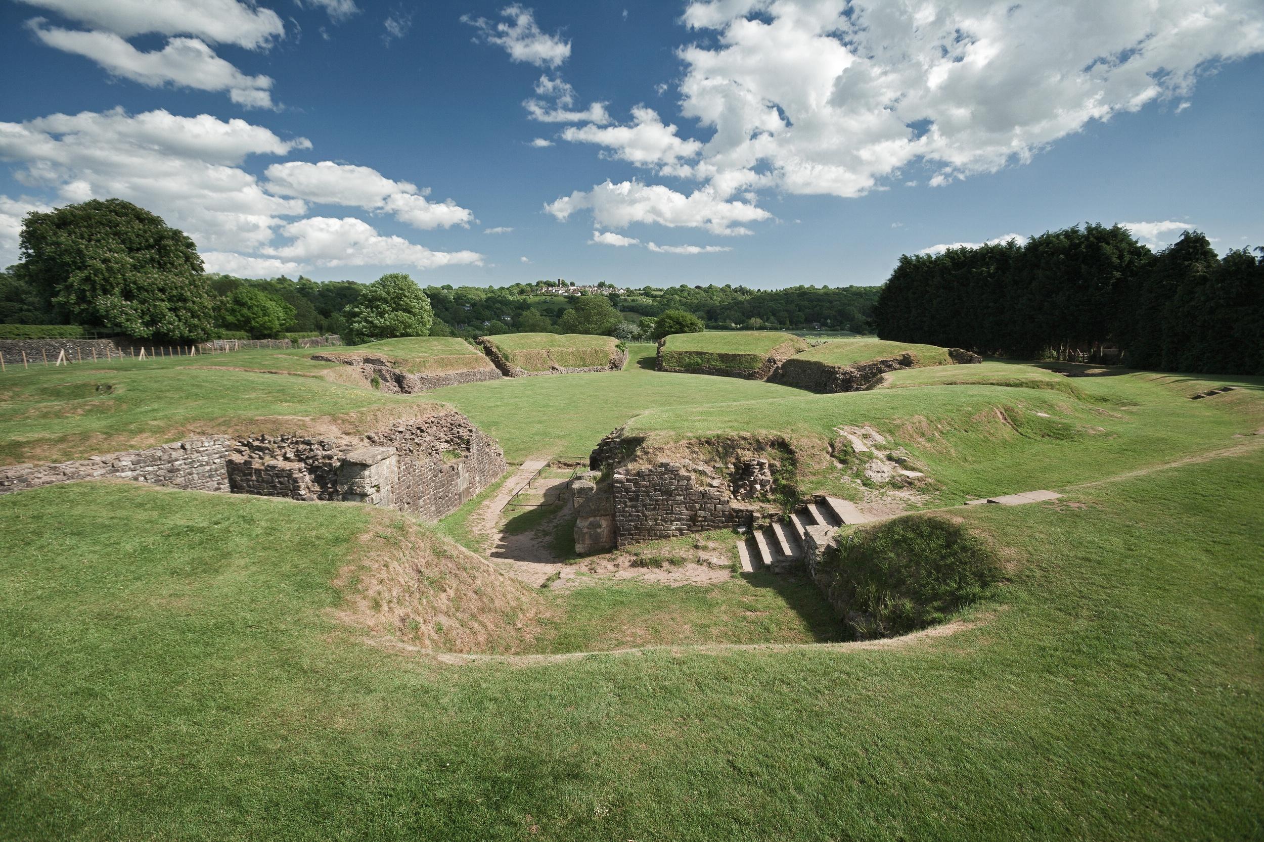 Roman Amphitheatre at Caerleon Photo Visit Wales