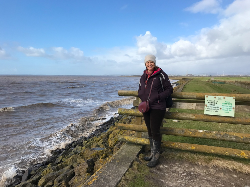 Sea Wall at Goldcliff Lagoon nr Newport Photo Heatheronhertravels.com