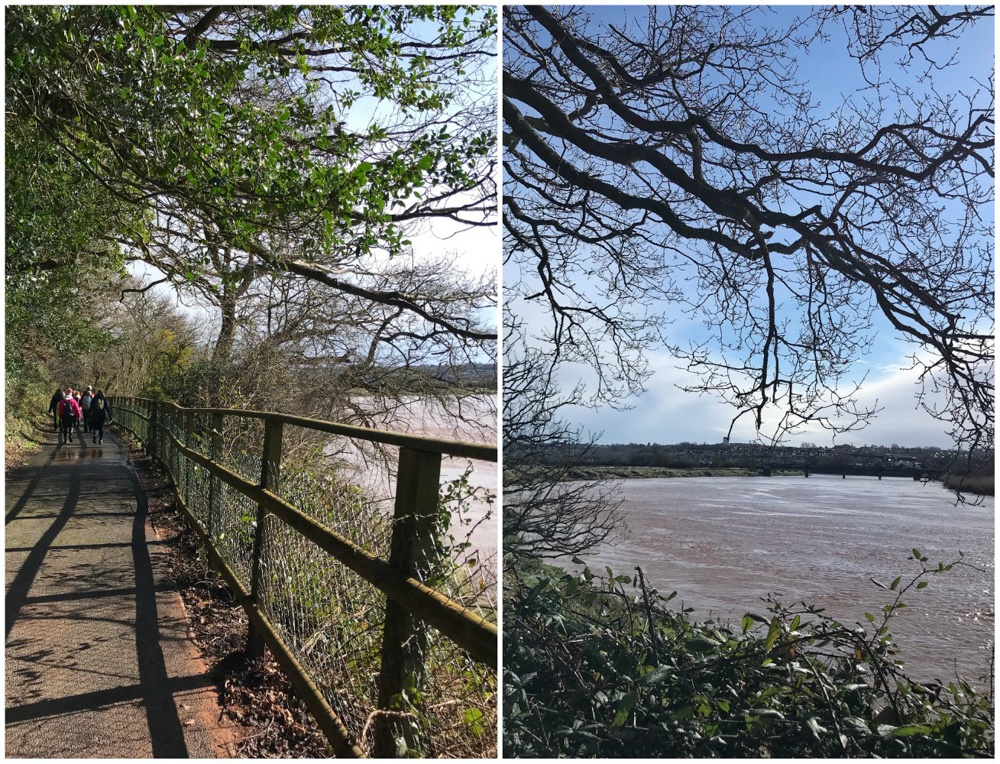 Walking on the River Usk near Newport Wales Photo Heatheronhertravels.com