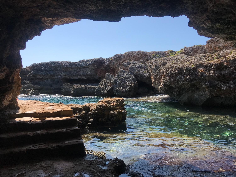 Sa Cova des Pardals near Cala son Bosc Cami de Cavalls Menorca