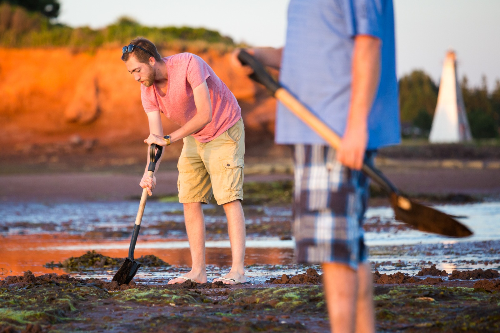 Clam digging in PEI Photo Credit: ©Tourism PEI / Carrie Gregory