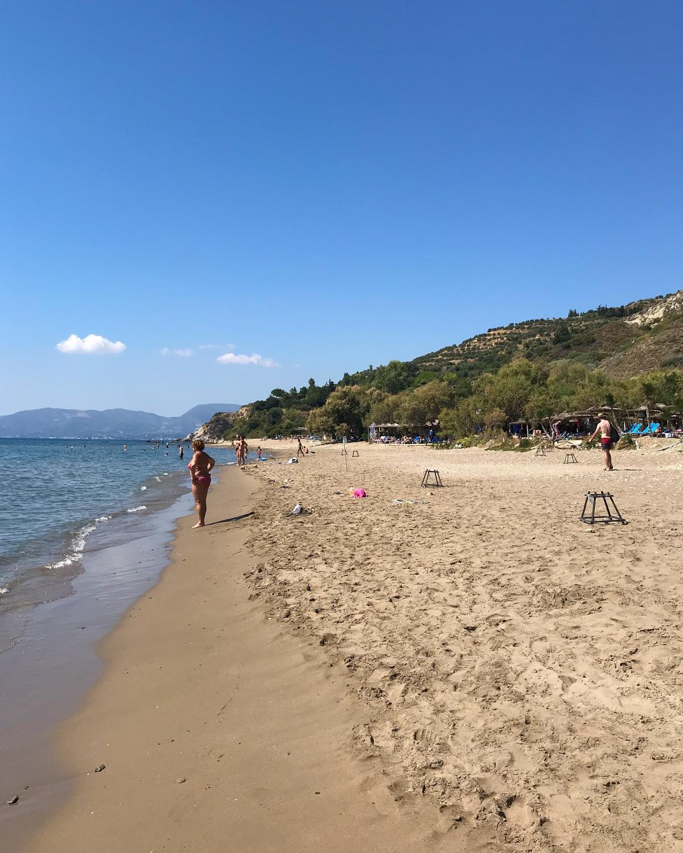 Dafni beach in Zakynthos, Greece Photo Heatheronhertravels.com