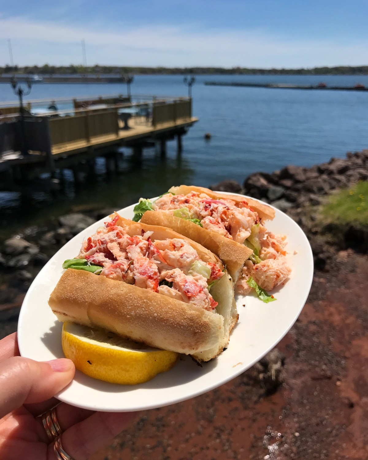 PEI Food - Lobster on the Wharf Photo Heatheronhertravels.com
